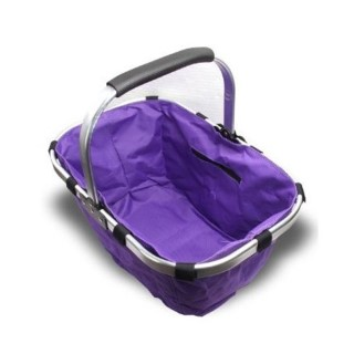 GK1638  Purple Single Handle Foldable Shopping Basket