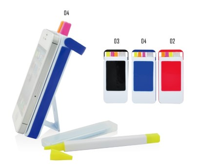 GK2302  3 Color Highlighter With Phone Stand&Clean Cloth