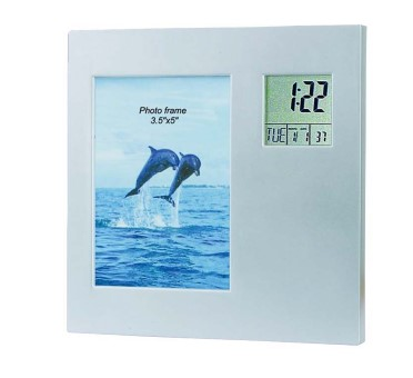 GK2393  Lcd Clock With Photo Frame