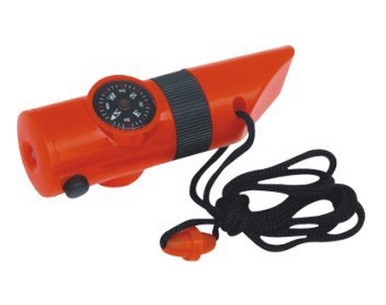GK2686  Compass With Whistle, Led Light And Neck Cord